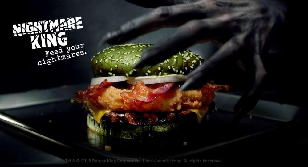 Propaganda do Burger King com sanduíche dos pesadelos (Foto: Divulgação)