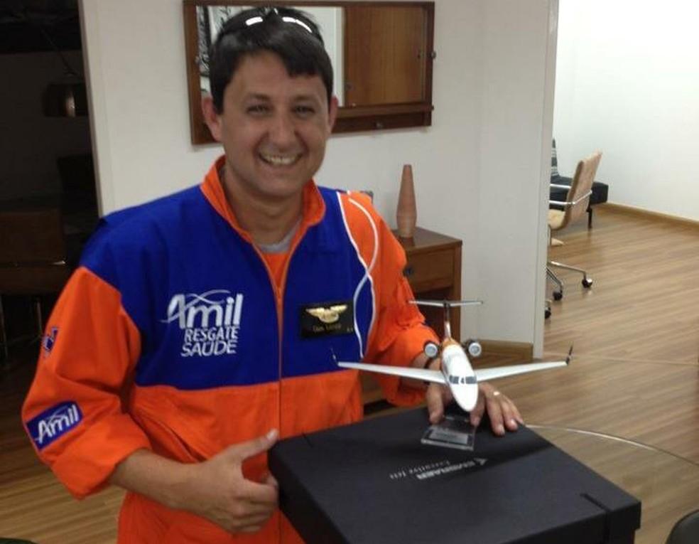 Antonio Landi Neto, piloto que morreu no acidente com helicóptero em Campos do Jordão. — Foto: Reprodução/EPTV