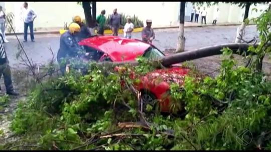 Prefeito assina decreto de situação de emergência após forte chuva em Santos Dumont