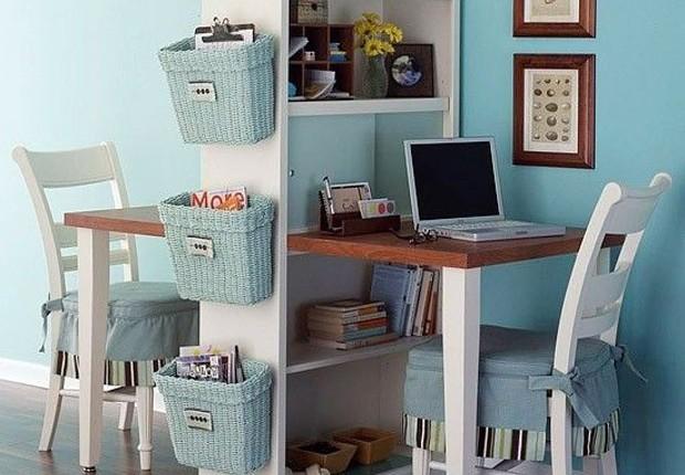 Home office para casais (Foto: Reprodução/Pinterest)