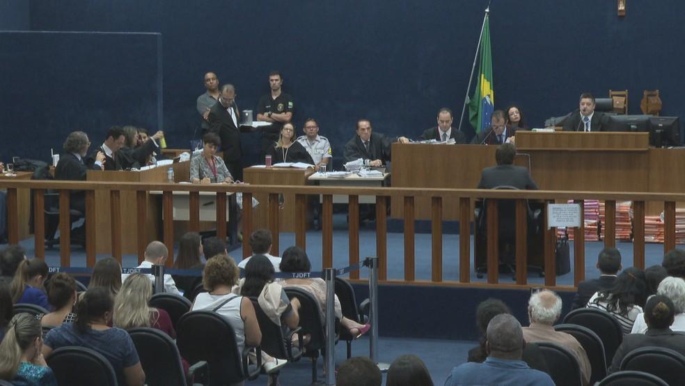 Quinto dia de julgamento de Adriana Villela  — Foto: TV Globo/Reprodução