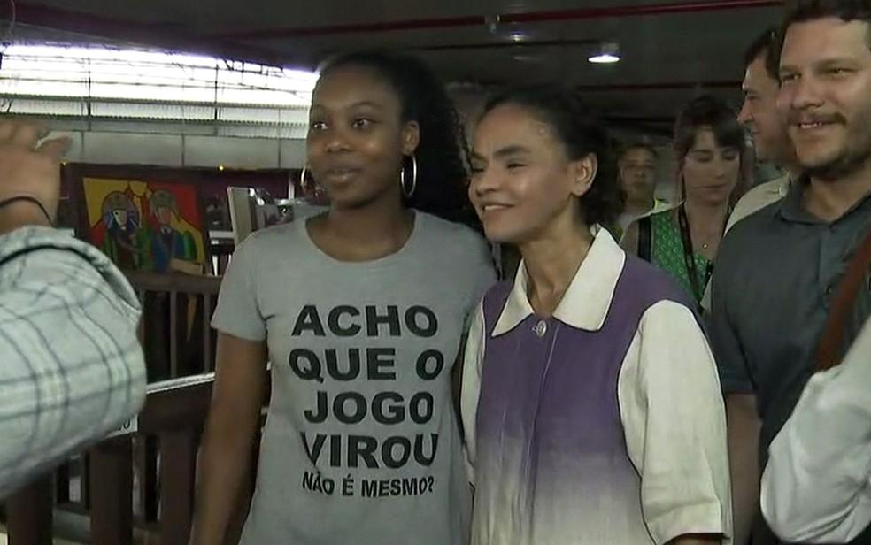 Marina visita Centro de Tradições Nordestinas, em São Paulo  (Foto: Reprodução/TV Globo)