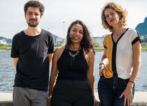 Cicero, Fabiane Pereira e Leticia Novaes (Foto: Foto: Bléia Campos/Divulgação)