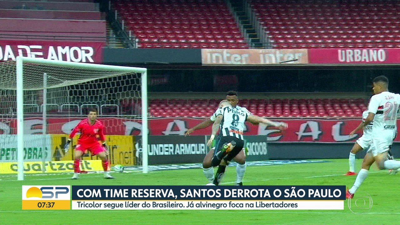 Mesmo com o time reserva, Santos vence o São Paulo no Morumbi