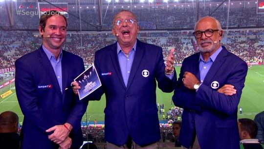 """Galvão Bueno pergunta se o técnico do River deve estar preocupado: """"Como é bom gritar gol forte"""""""