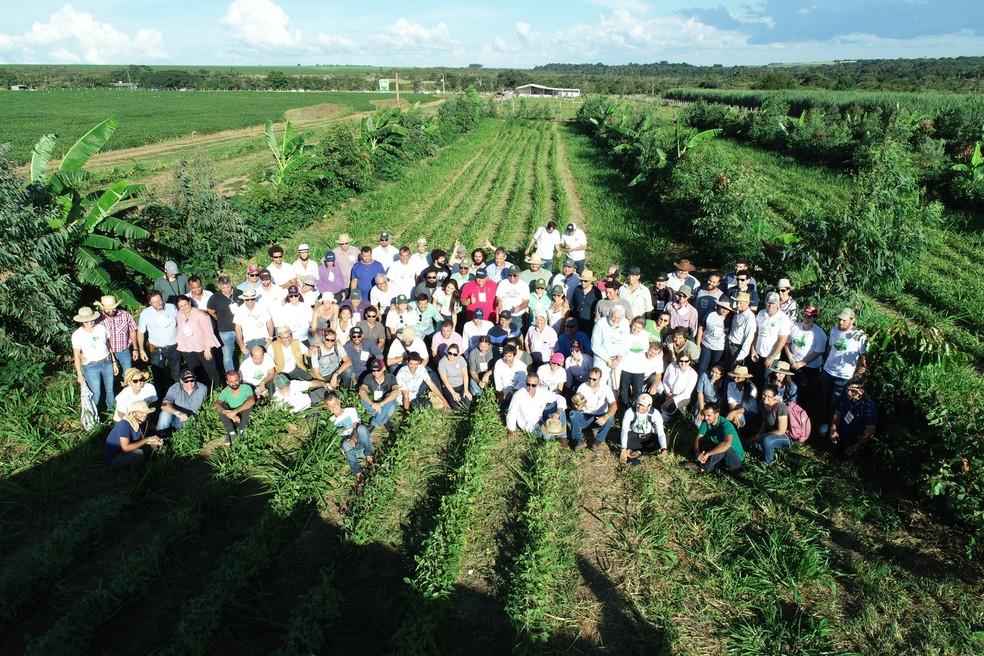Encontro do GAAS realizado em 2019, que reuniu produtores e pesquisadores para debater uma agricultura mais sustentável — Foto: Eliane de Castro/Divulgação