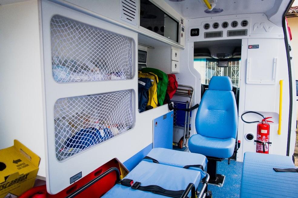 Ambulâncias novas estavam paradas por falta de emplacamento, no RN (Foto: Cedida)