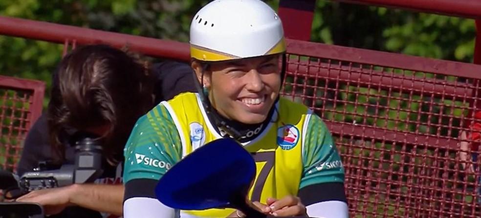 Ana Sátila é bronze em etapa da Copa do Mundo no caiaque extremo — Foto: Divulgação/CBCa