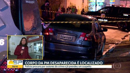 Polícia prende suspeito de participar de assassinato da PM desaparecida em SP