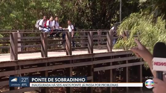 Moradores de Sobradinho reclamam da falta de manutenção de ponte