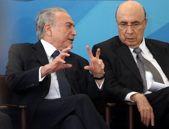 O presidente da República, Michel Temer, e o ministro da Fazenda, Henrique Meirelles (Foto: Antonio Cruz/Agência Brasil)