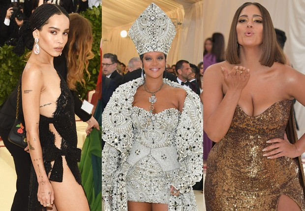 Zoe Kravitz, Rihanna e Ashley Graham (Foto: Getty Images)