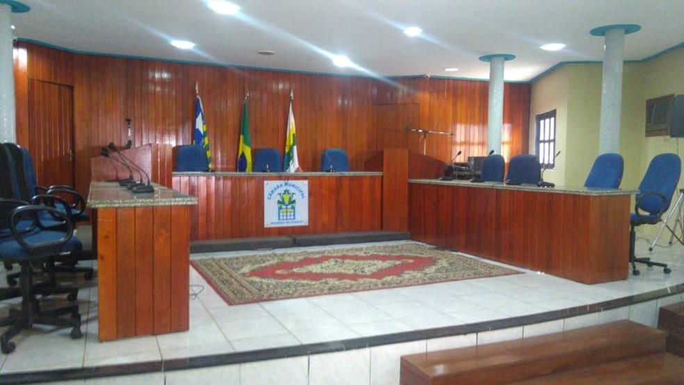 Plenário da Câmara Municipal de Valença do Piauí.  — Foto: Marcos Teixeira/TV Clube
