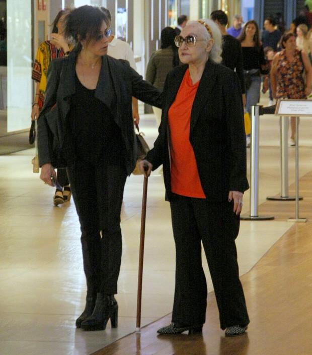Christiane Torloni com a mãe  (Foto: J HUMBERTO / AGNEWS)