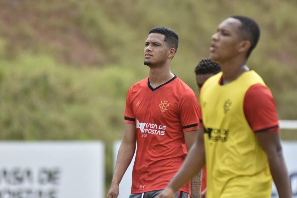 Jogadores em treino do Vitória deste sábado — Foto: Pietro Carpi / EC Vitória / Divulgação