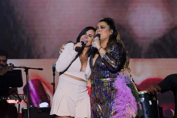 Preta Gil com Gretchen e Thammy Miranda (Foto: AG News)