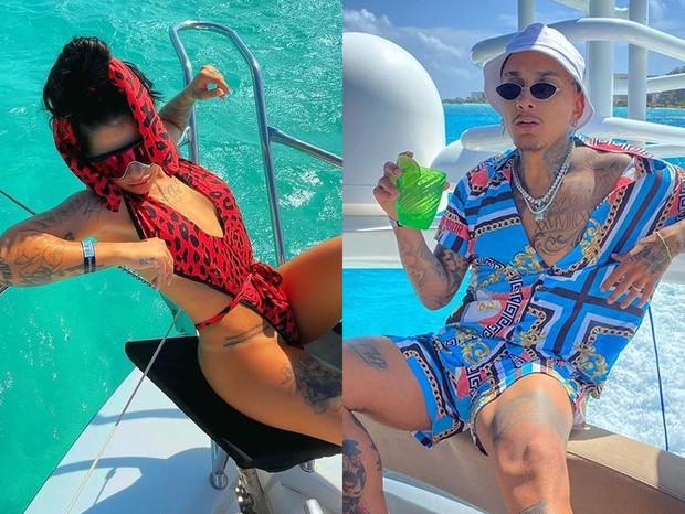 MC Mirella e Dynho Alves curtem lua de mel em Cancún, no México (Foto: Reprodução/Instagram)