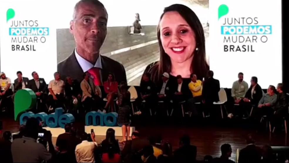 Vídeo do senador Romário para o ato de lançamento do Podemos (Foto: Reprodução/Facebook)