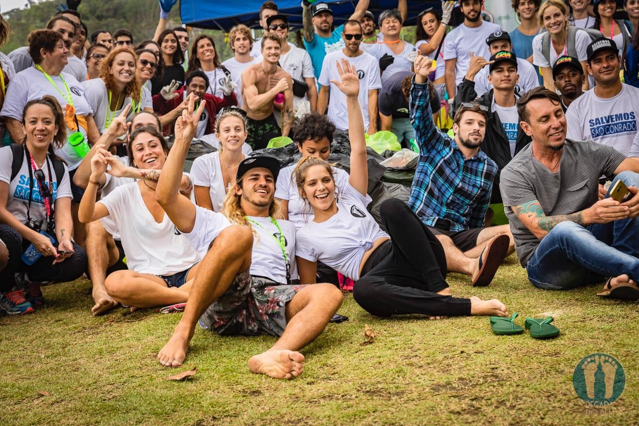 Equipe do projeto Pegada do Bem (Foto: Divulgação)