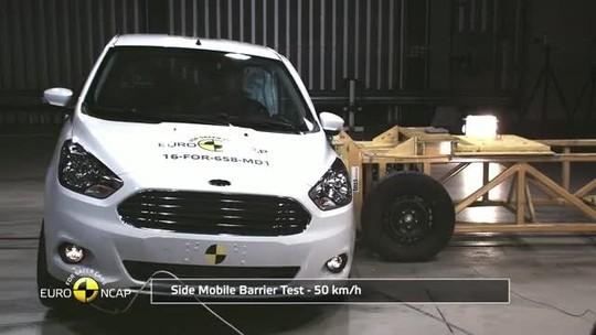 Ford Ka, Toyota C-HR e Fiat 500 passam por teste de colisão na Europa