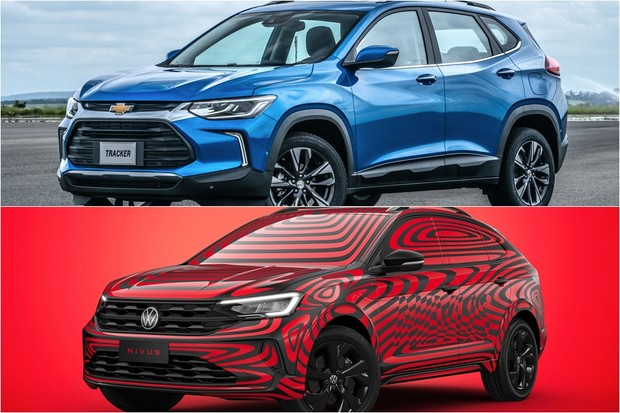 Volkswagen Nivus Chevrolet Tracker comparativo (Foto: Montagem/Divulgação)