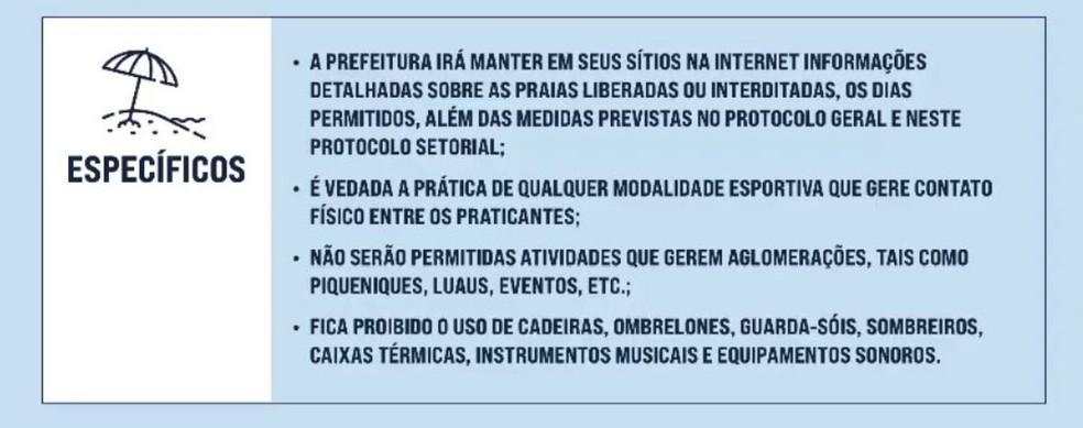 Protocolo de reabertura das praias de Salvador — Foto: Reprodução/Prefeitura de Salvador