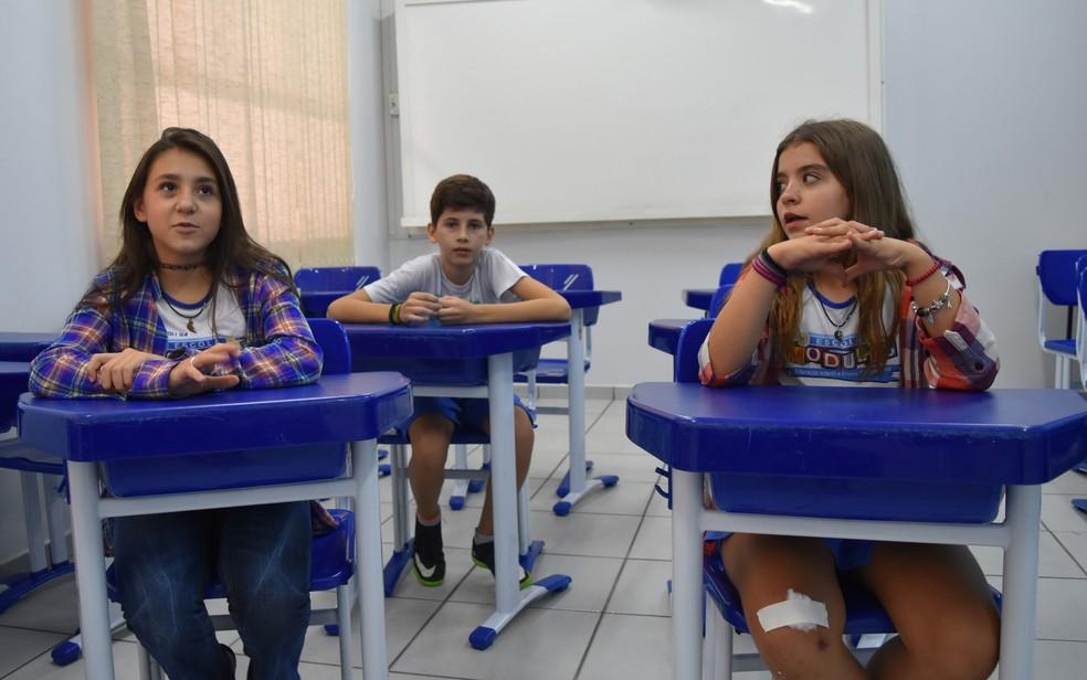 Alunos da Escola Modulus contam como apreendem a lidar com os conflitos diários (Foto: Paula Resende/ G1)