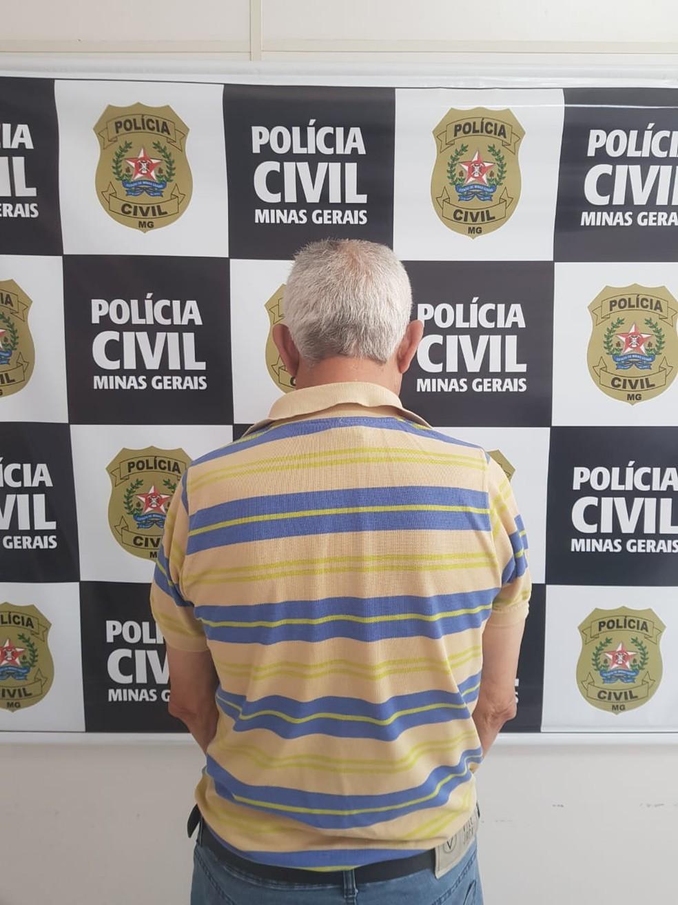 Após passar por exame de corpo de delito, Jorge Dias será levado para presídio — Foto: Polícia Civil/Divulgação