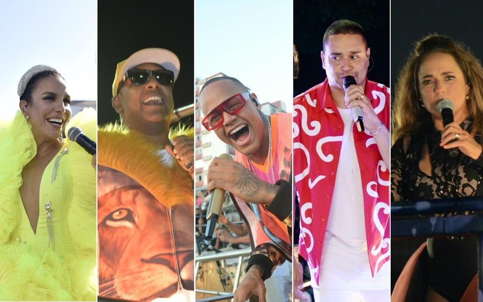 Quarto dia de carnaval tem Ivete, Daniela, Léo Santana, Psirico, harmonia e outros — Foto: Arte/G1 Bahia