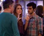 Marina Ruy Barbosa em cena de 'Totalmente demais' com Fabio Assunção e Felipe Simas | Gshow