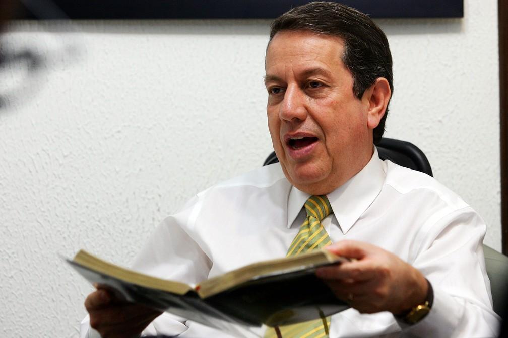 Romildo Ribeiro Soares, conhecido como Missionário R. R. Soares, é fundador da Igreja Internacional da Graça de Deus. — Foto: Jonne Roriz/Estadão Conteúdo