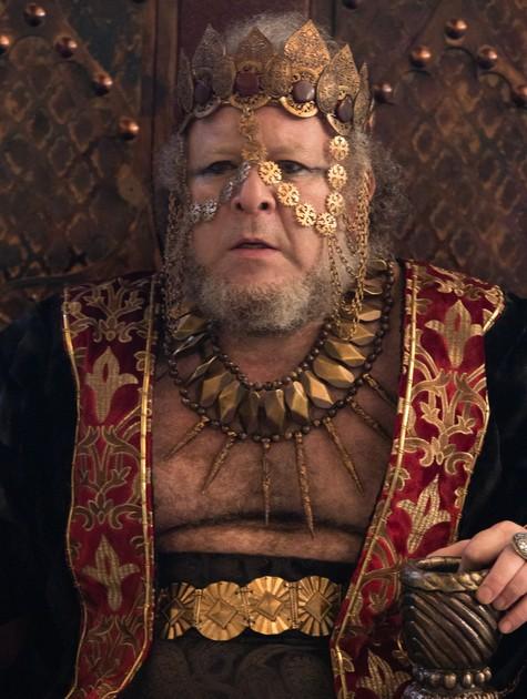"""Charles Paraventi como Bera, o rei de Sodoma, em """"Gênesis"""" (Foto: Divulgação)"""
