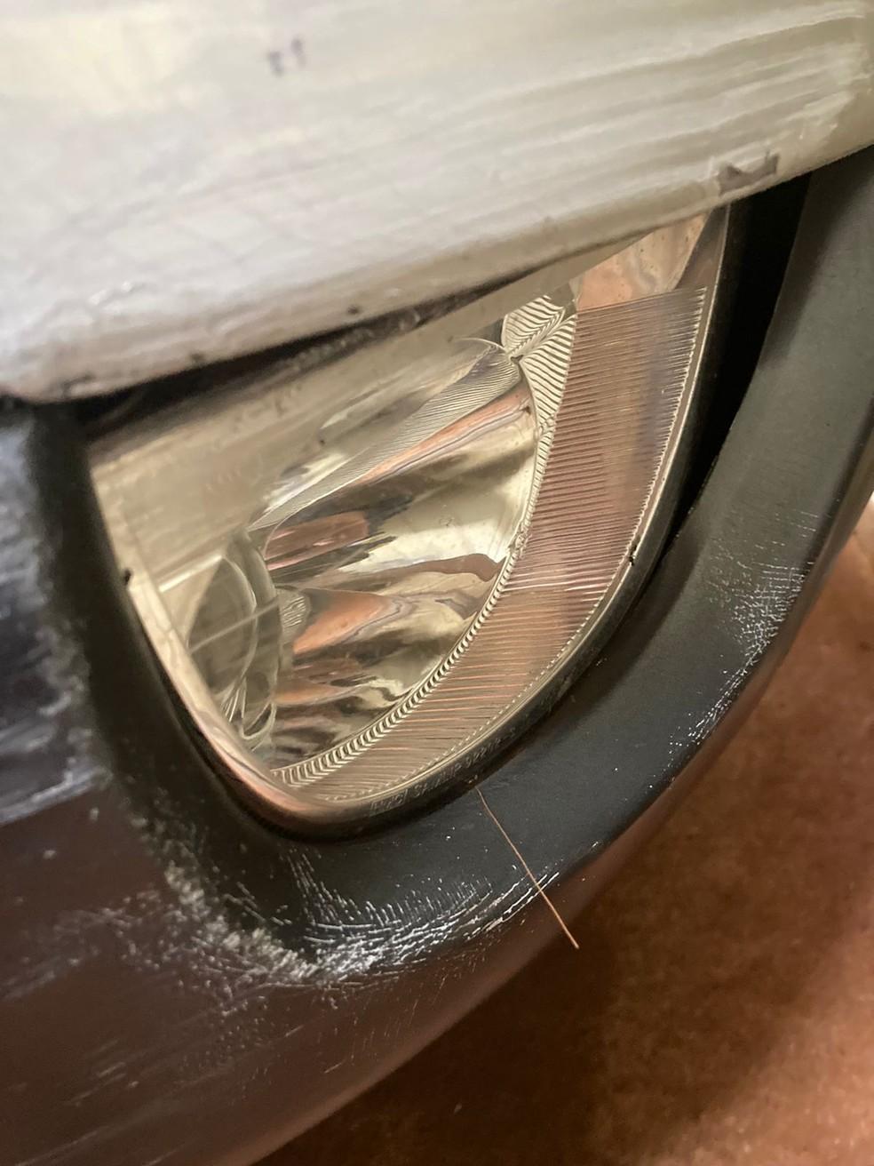 Pelo de capivara foi encontrado na parte da frente de carro do suspeito — Foto: Prefeitura de Apucarana/Divulgação