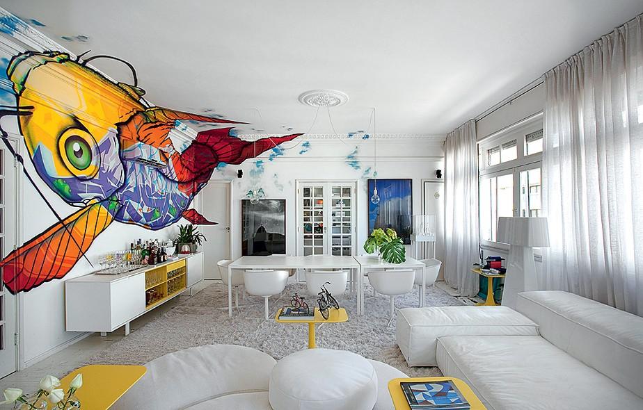 Grafite em casa casa e jardim pintura - Pinturas de paredes modernas ...