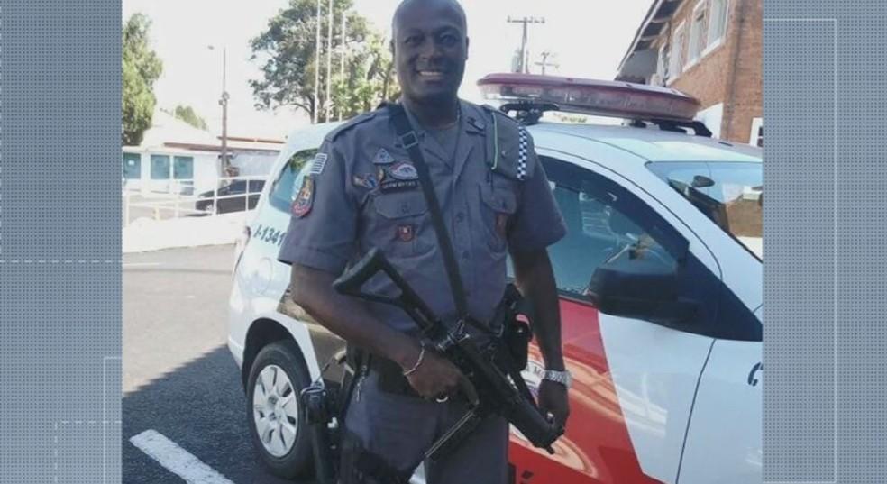 O cabo da Polícia Militar de Araraquara Elias Matias Ribeiro  — Foto: Reprodução/EPTV