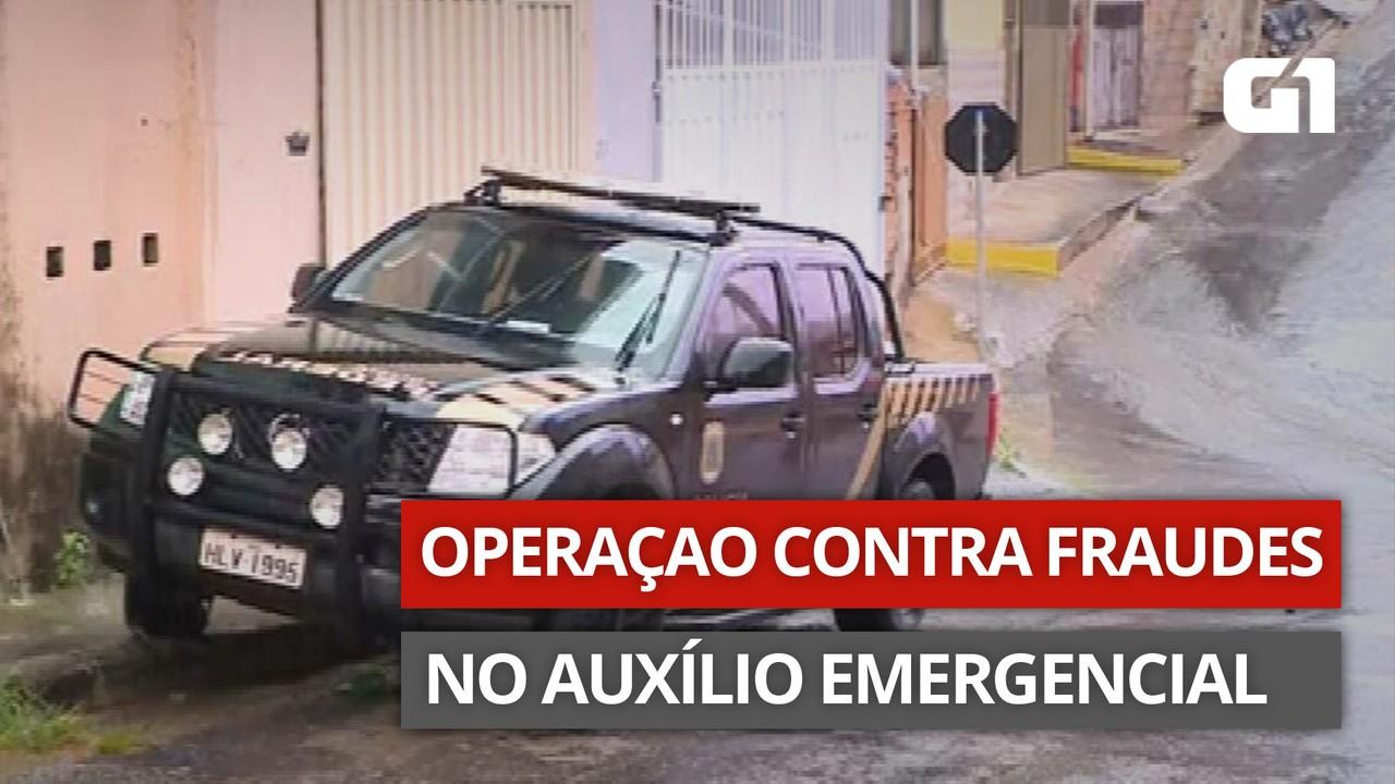 VÍDEO: PF cumpre mandados contra fraudes no Auxílio Emergencial em MG