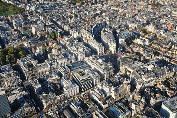 Arial view of London's St James's   (Foto:   )