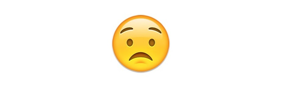 Um emoji para expressar preocupação — Foto: Reprodução/TechTudo