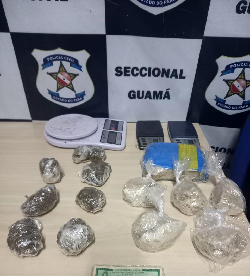 Suspeito de tráfico de drogas é preso na ilha do Combu, em Belém