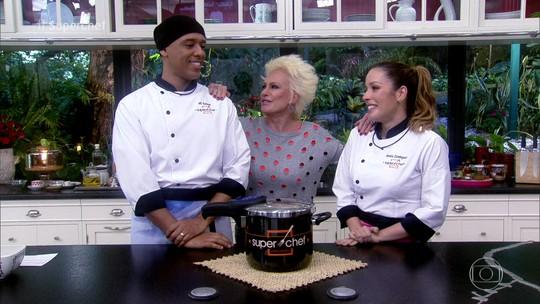 MC Koringa e Renata Dominguez estão na Panela de Pressão do 'Super Chef'