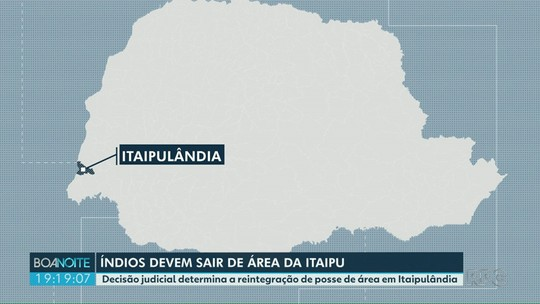 índios devem deixar área de Itaipu