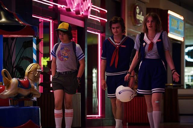 Cena da terceira temporada de 'Stranger things' (Foto: Reprodução)