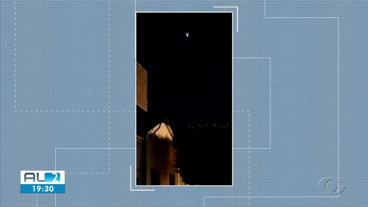 Moradores de cidades alagoanas registram luz misteriosa no céu