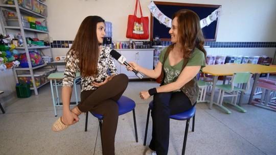 Edlaine Garcia mostra projeto em escola que melhora o desempenho de alunos e professores