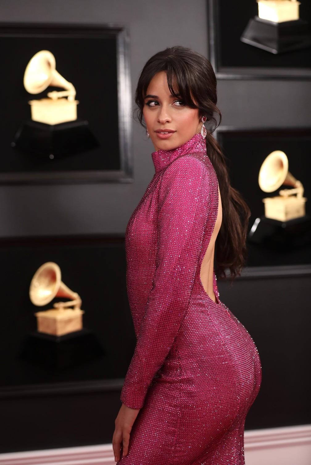 Camila Cabello no Grammy 2019 — Foto: Lucy Nicholson / Reuters