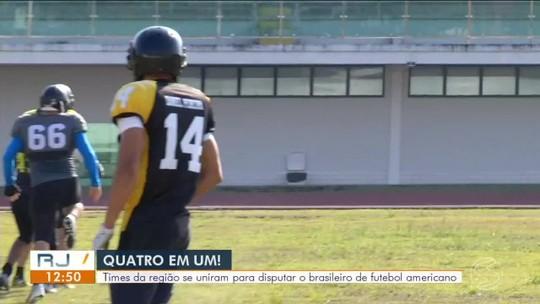 Time de futebol americano do Sul do RJ luta para chegar à primeira divisão da modalidade no Brasil
