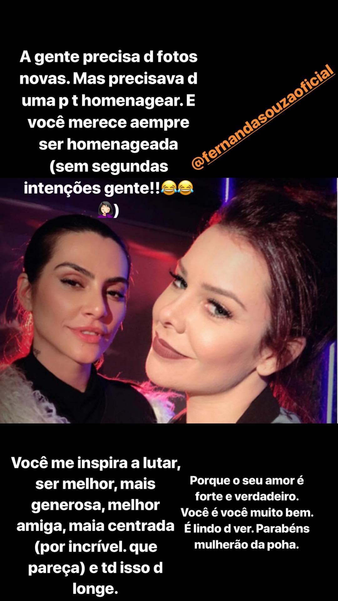 Cleo Pires homenageia Fernanda Souza (Foto: Reprodução/Instagram)