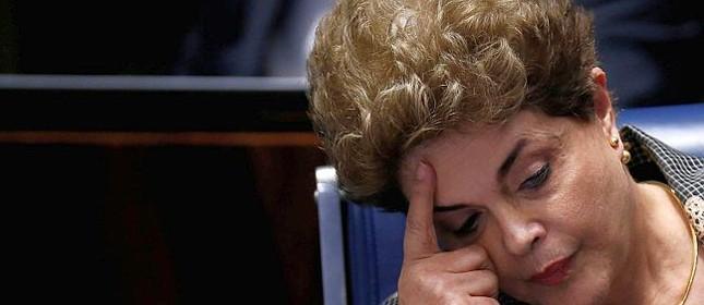 Dilma no dia de seu discurso de defesa (Foto: Ueslei Marcelino / Reuters)