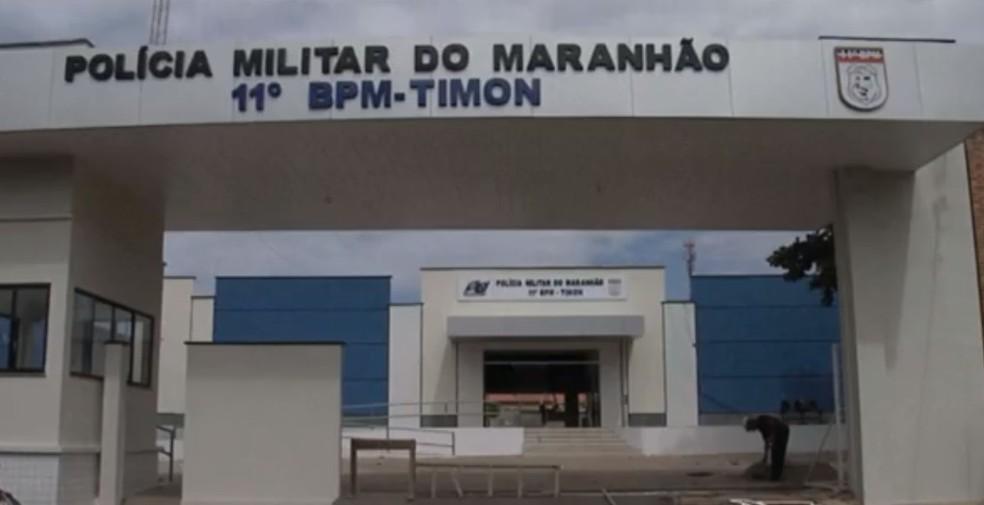 11º Batalhão de Polícia Militar, em Timon - Maranhão — Foto: Reprodução/ TV Mirante