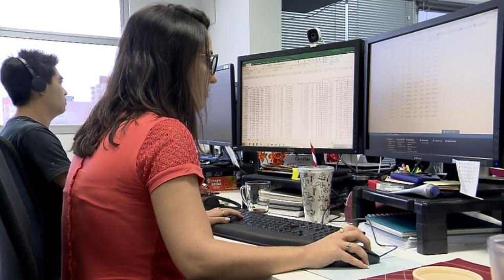 A analista de risco Carol Raimundo sentiu o tremor em São Carlos (Foto: Reprodução/ EPTV)
